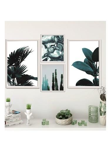 Lyn Home & Decor Mega Dörtlü Çerçeveli Poster 4 Lü Tablo 2 Adet 23,5X33,5 2 Adet 17,5X23,5 Beyaz